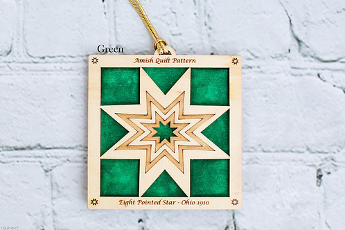 4025 - Quilt Ornament, Eight-point Star