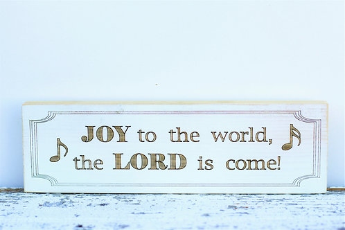 """4000- 10"""" Sign, Joy to the World"""
