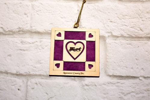 4064 - Quilt Ornament, Lancaster Heart Buggy