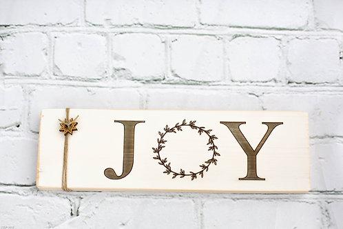 """3"""" x 10"""" Sign, Joy"""