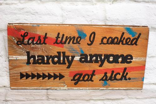 6001 - Barn wood sign - Kitchen