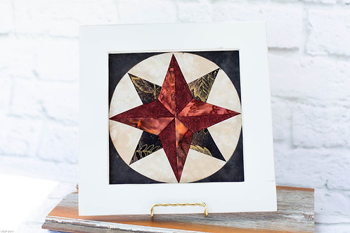 4400 - Distressed White Framed Compass