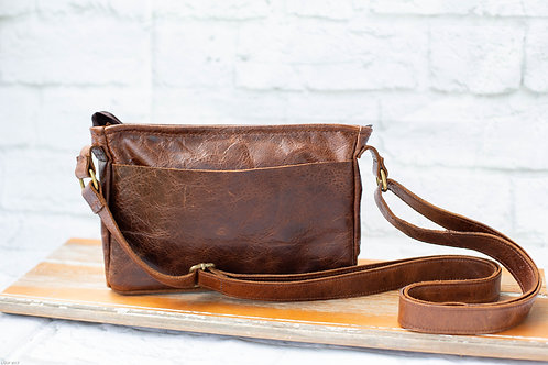 8003 - Dark Brown Leather purse