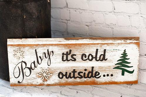 6004 - Christmas Barn wood sign