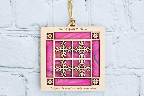 4031A - Quilt Ornament, Batik Tulips