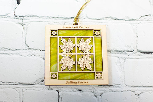 4040A - Quilt Ornament, Batik Falling Leaves