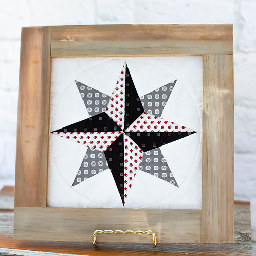 4403 - Distressed Natural Framed Compass