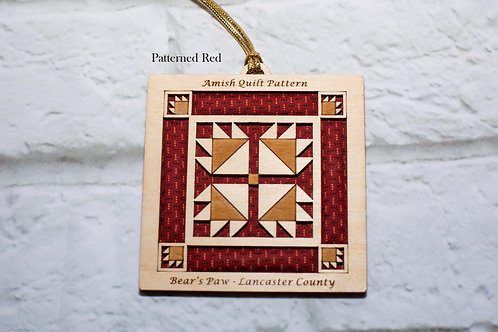 4039 - Quilt Ornament, Bear's Paw