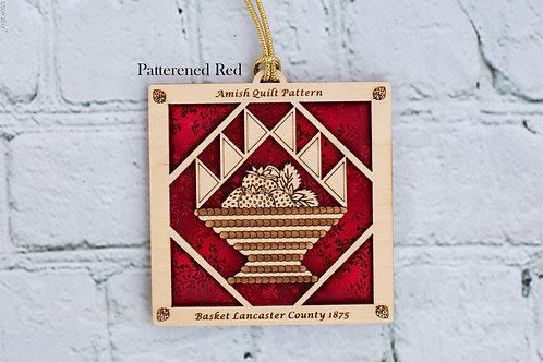 4043 - Quilt Ornament, Basket with Strawberries