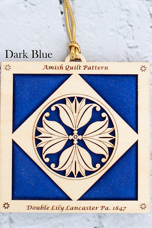 4032 - Quilt Ornament, Double Lily