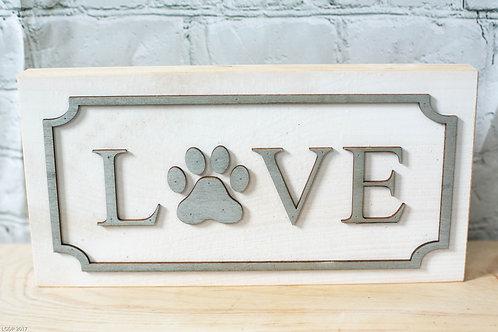 8001 - Love Paw Print