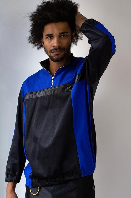 Genderless Retro Track Color Block Sweatshirt
