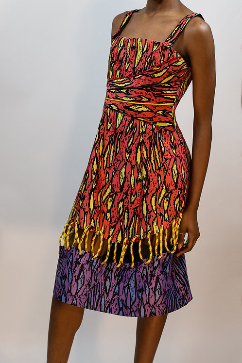 Insanely Cool Printed Cording Dress