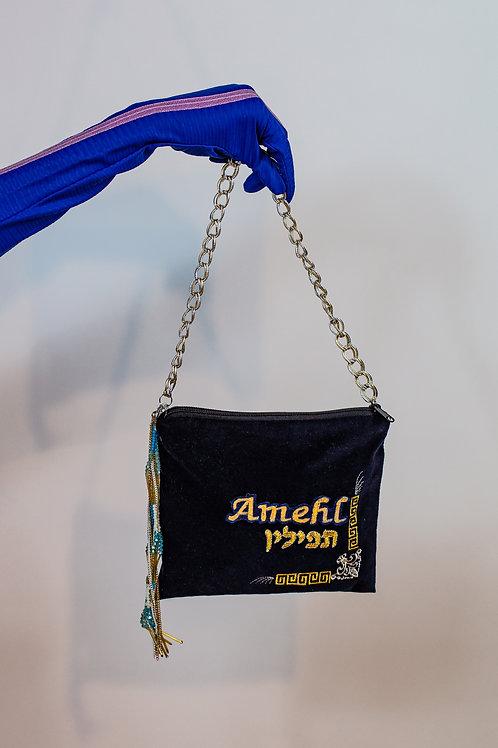 Navy Tefilin Bag