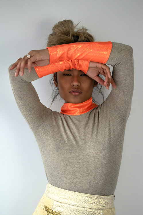 Combo Neck and Cuff Turtleneck