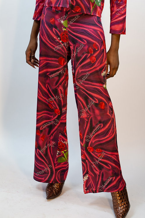 A-Stock Rose Print Pant