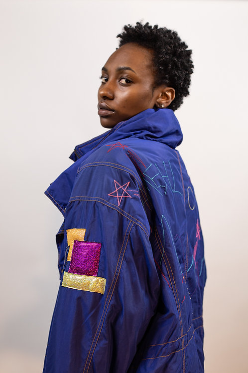 Genderless Up-cycled Embroidered Jacket