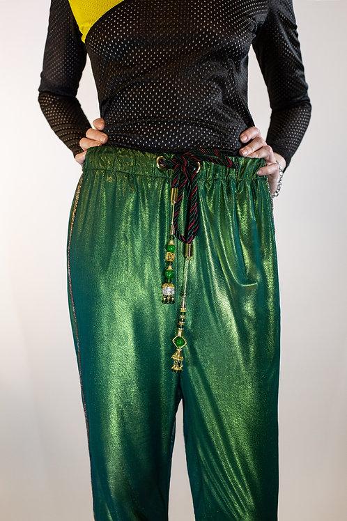 Chiffon Iridescent Drawstring Pant