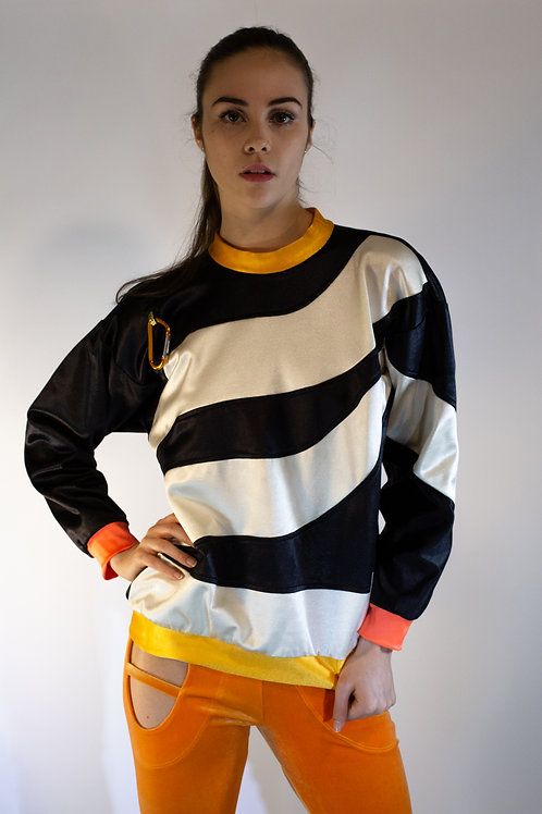 Color Blocked Swirl Sweatshirt