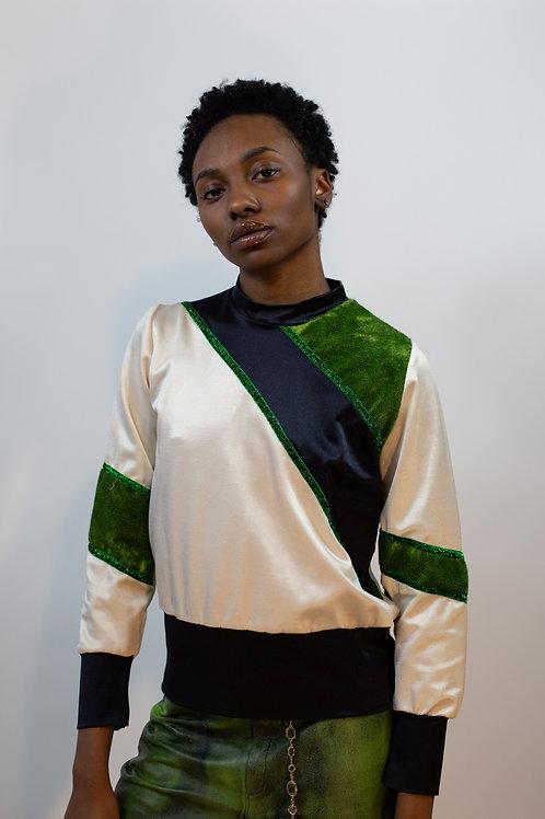 Astroturf Colorblocked Sweatshirt