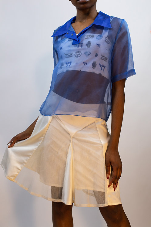 Mixed Media Western Skirt
