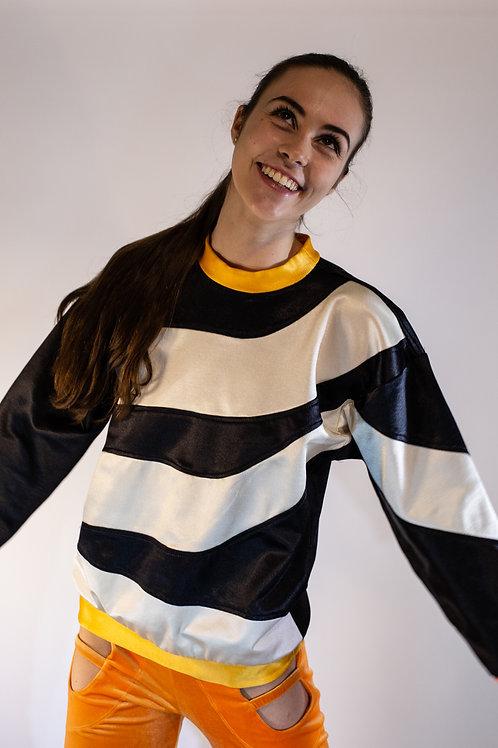 Black/White Swirl Sweatshirt
