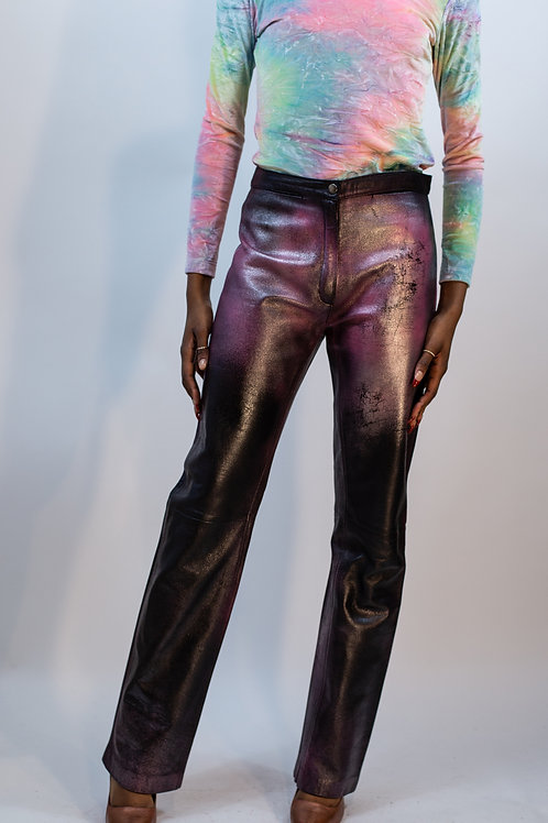 Handpainted Leather Pant