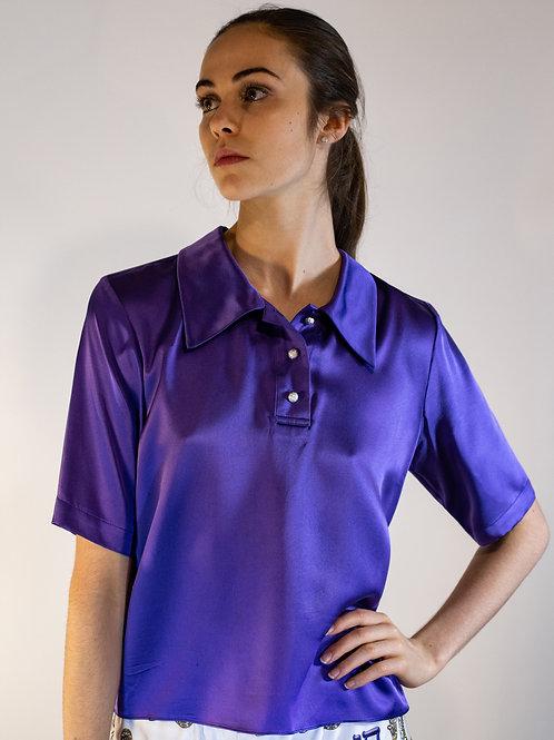 Violet Silk Polo