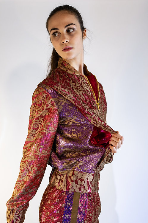 Genderless Lace Track Jacket