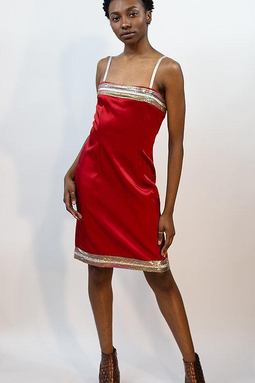 Chainmail Cheerleader Slip Dress