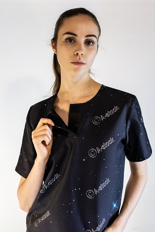 A-stock Space Print Top