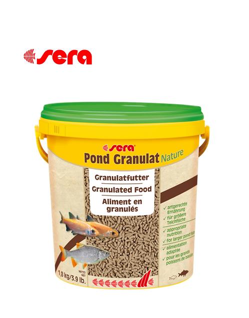 מזון טבעי לדגי בריכות גדולים  Sera Pond Granulat Nature 10L