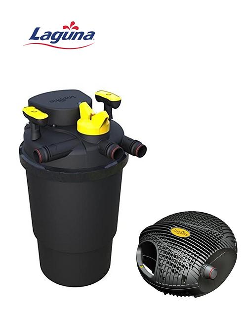 סט סינון לבריכה עד 2000 ליטר - משאבה Laguna 4000 + פילטר Laguna Pressure 6000
