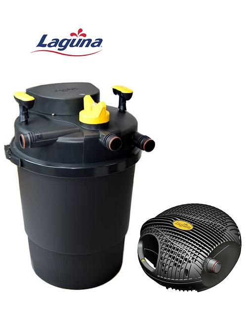 סט סינון לבריכה עד 4000 ליטר - משאבה Laguna 5000 + פילטר Laguna Pressure 10000
