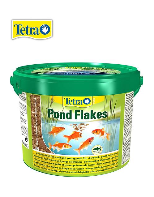 מזון דפדפים לדגי בריכות Tetra Pond Flakes 10L