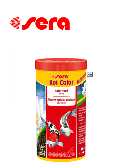 מזון מחזק צבע לדגי קוי sera Koi Color Medium 1L