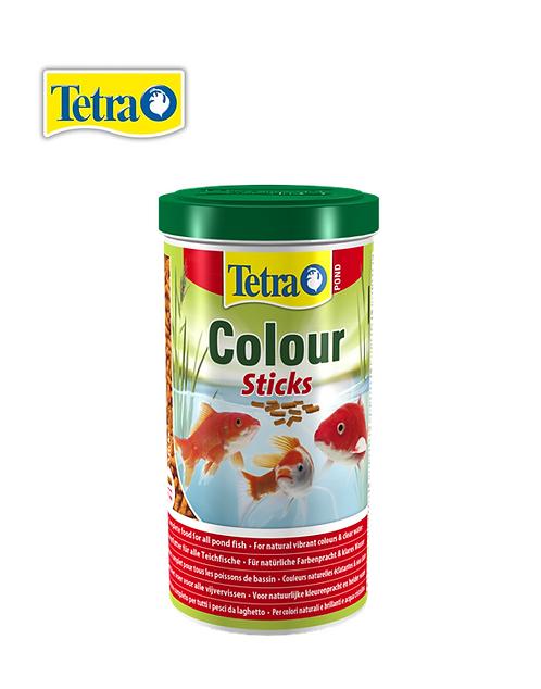 מזון מחזק צבע לדגי בריכות Tetra Color sticks 1L