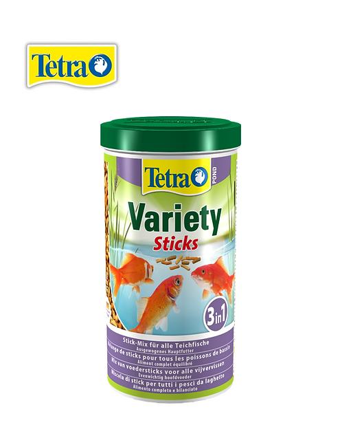מזון גרנולט מעורב לדגי בריכות Tetra Variety Sticks 1L