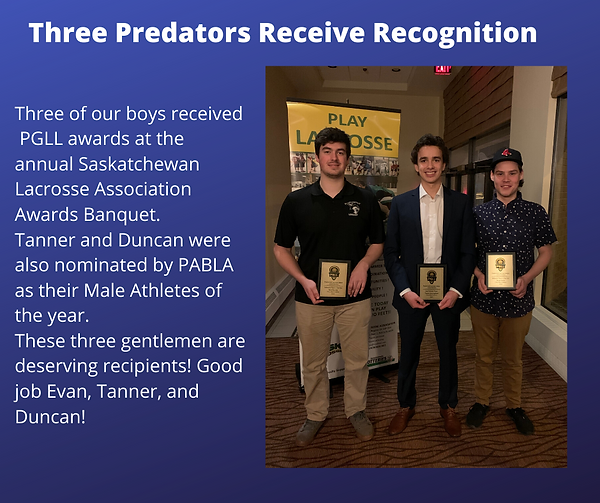 Three Predators Recieve Recognition (1).