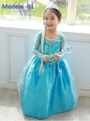 Vestido Frozen Elza Modelo 01