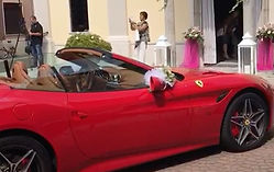 rent a ferrari for wedding in italy