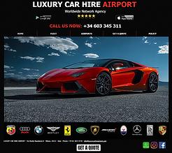 Luxury car rental airport
