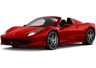 Rent Ferrari 458 Spider in Milan