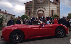 rent ferrari for wedding in rome