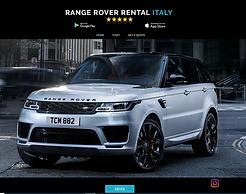 range rover rental italy