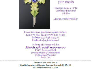 St. Anthony's Palm Cross Fundraiser