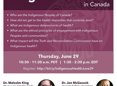 Webinar: The historical context for Indigenous health in Canada