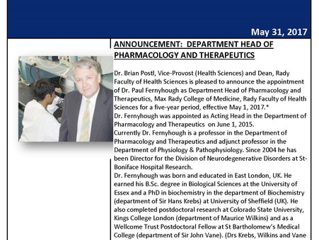 Congratulations to Dr. Paul Fernyhough!