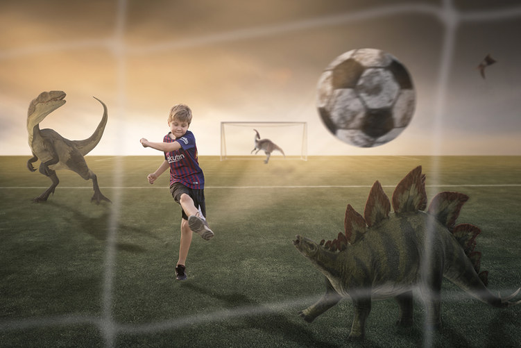 Football with dinosaurs