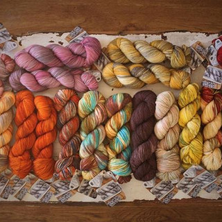 All of this yummy yarn is heading out th